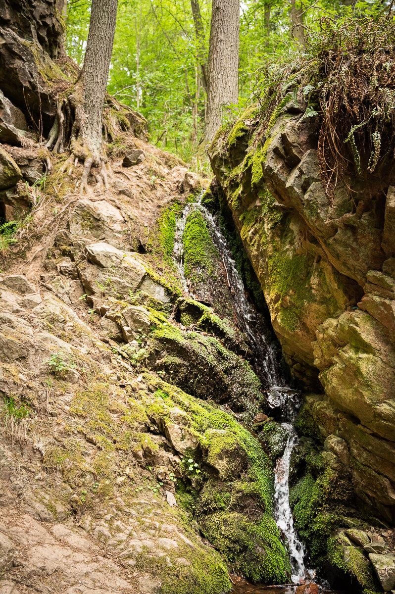 vodopád v Trenckově rokli