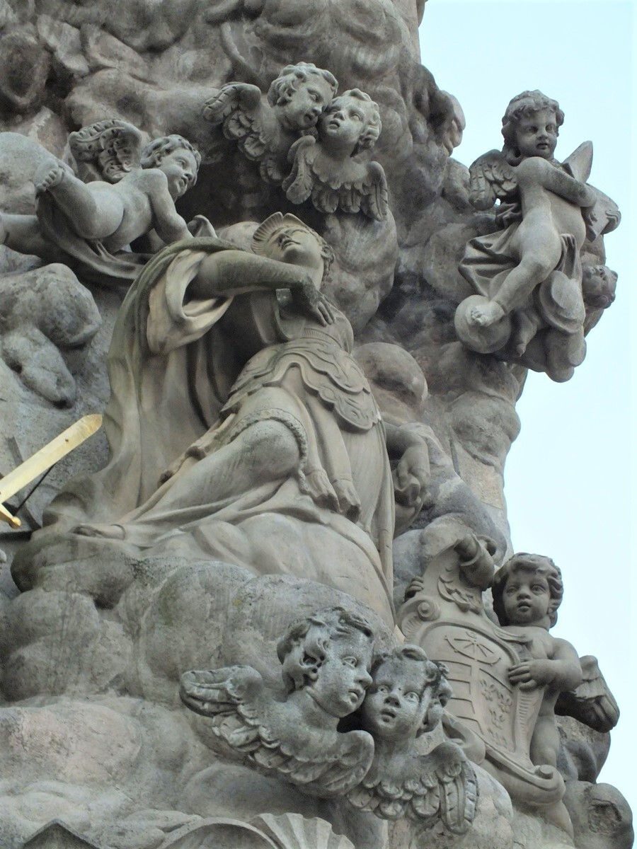 trojiční sloup, Kremnica (detail); (c) Mgr. Anna Nociarová