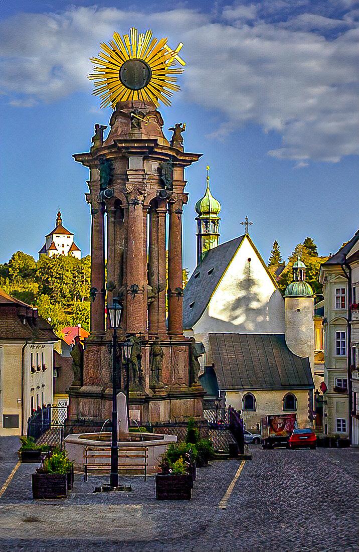 Trojičný stĺp, Banská Štiavnica; (c) Wikipedia.org - Richard Managr