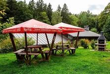 """место для отдыха в саду в """"Adélka"""""""