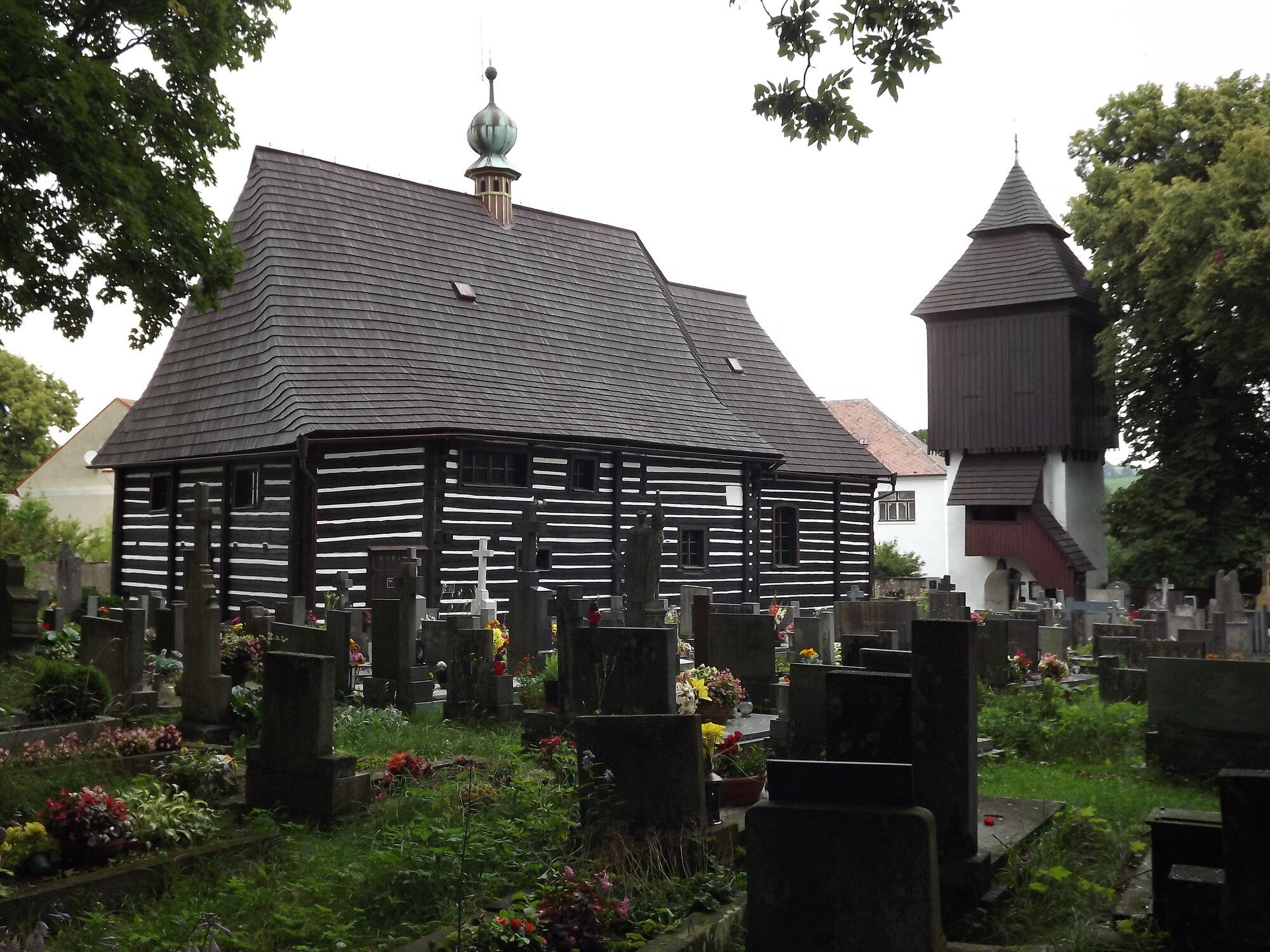 Славонёв, деревянный костел