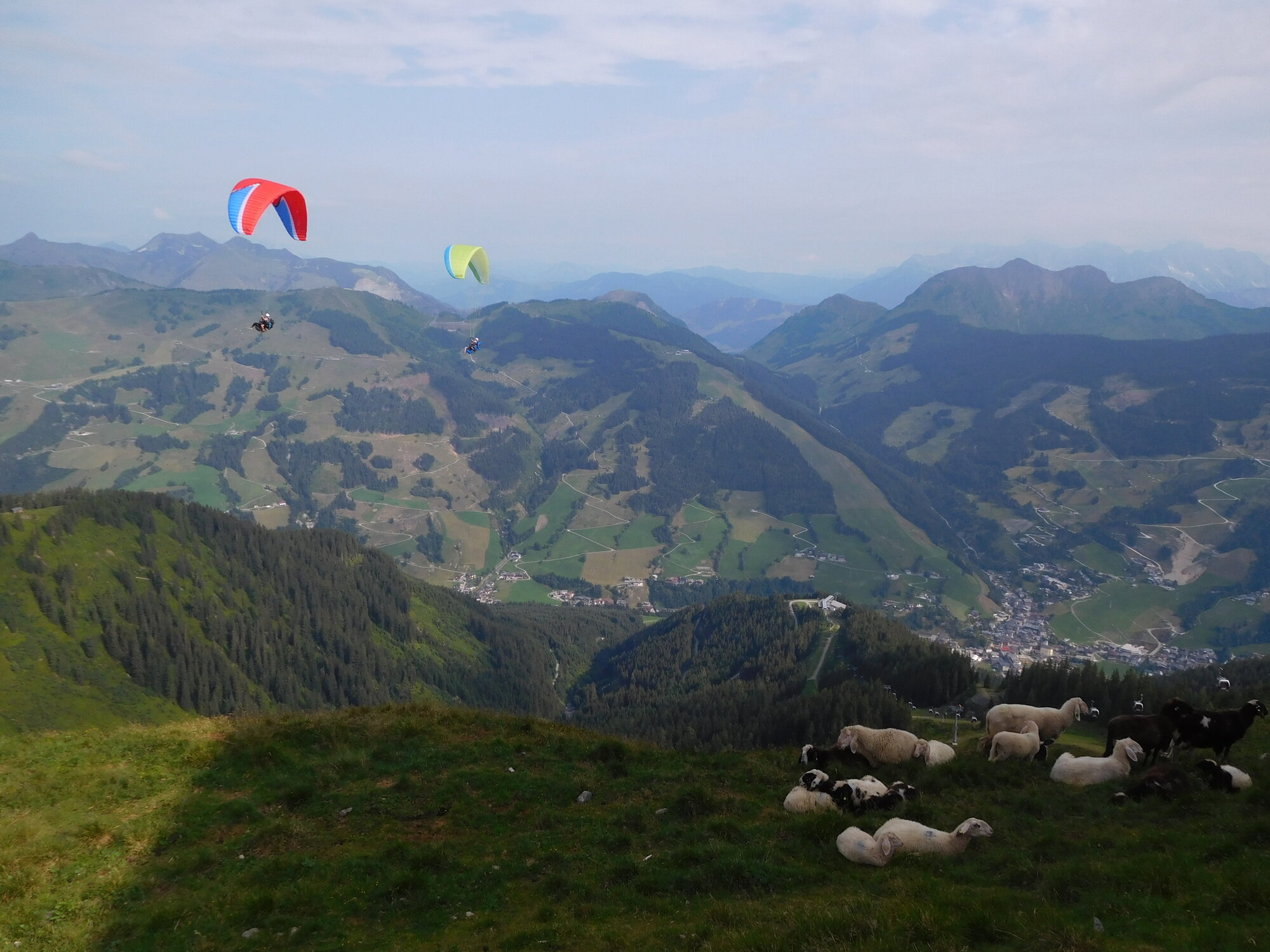 paragliding na Schattbergu