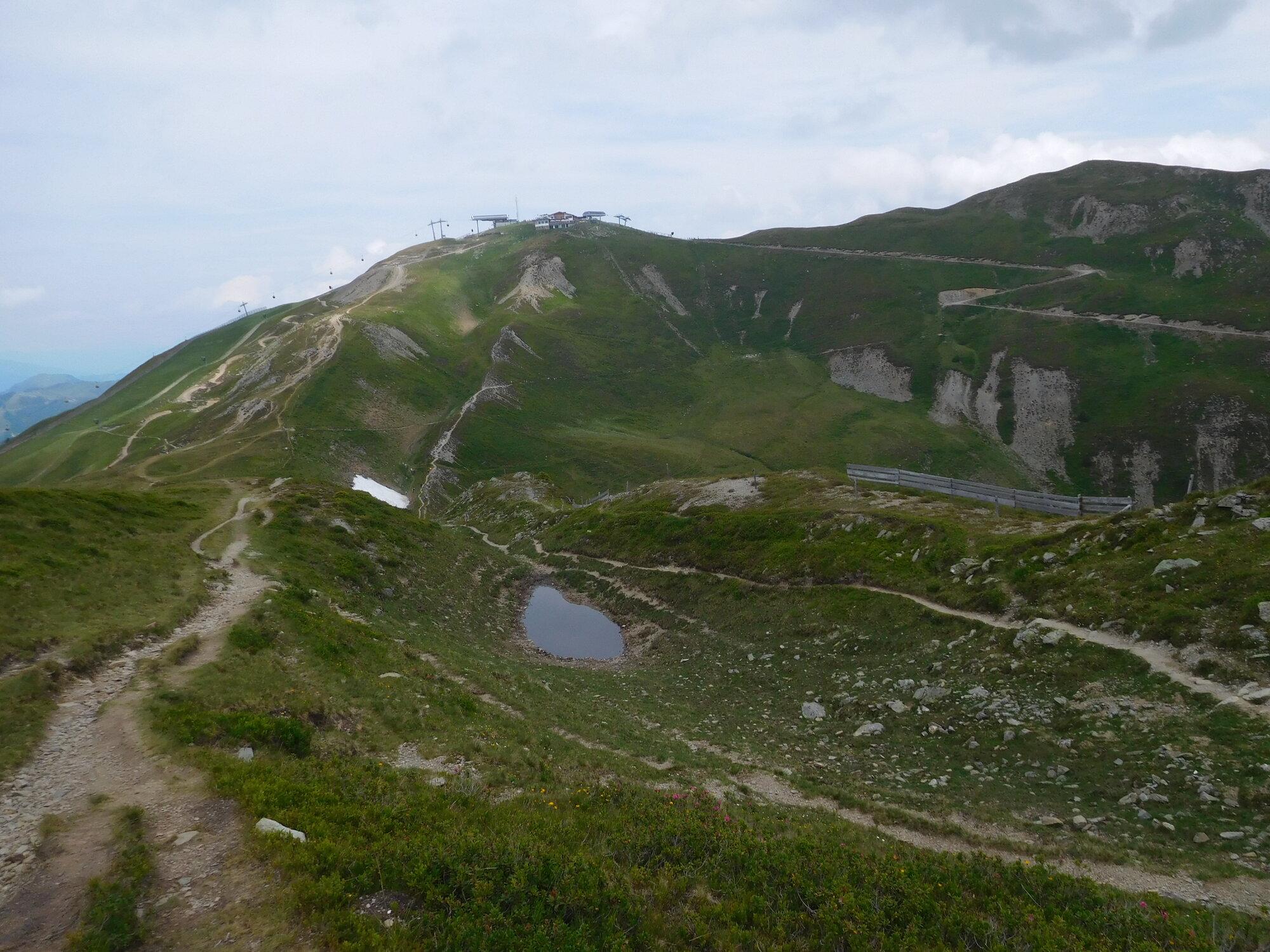 pohled ze Stemmerkogelu na Bergstation