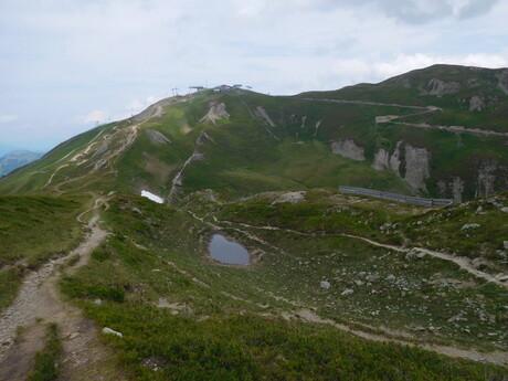 pohľad zo Stemmerkogelu na Bergstation