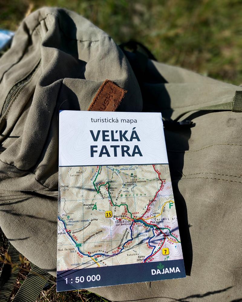 Veľká Fatra – mapa