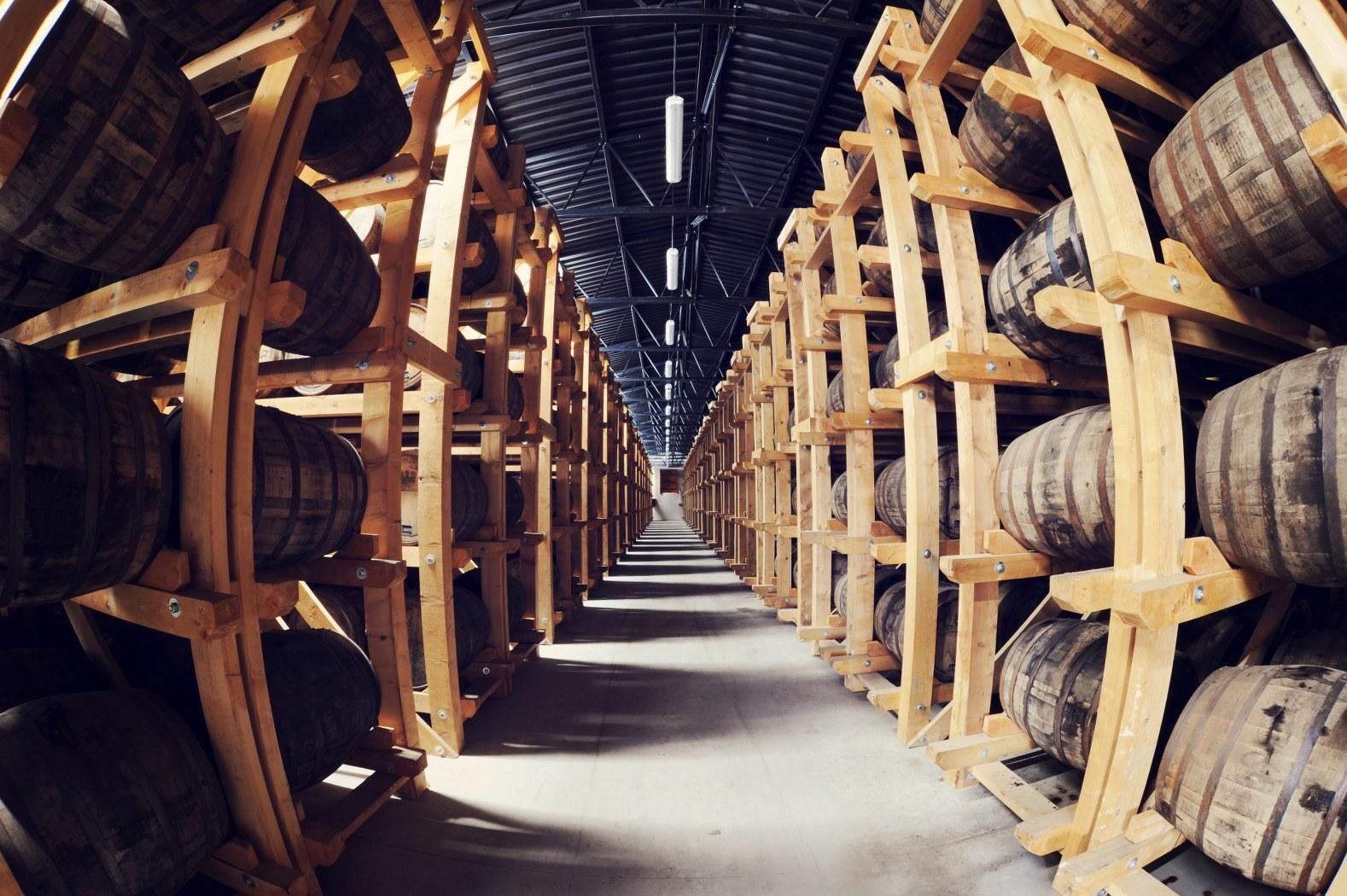 sklady, ve kterých zraje Nestville Whisky