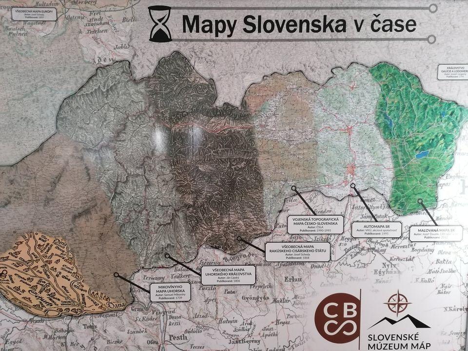 Slovenské múzeum máp - mapy