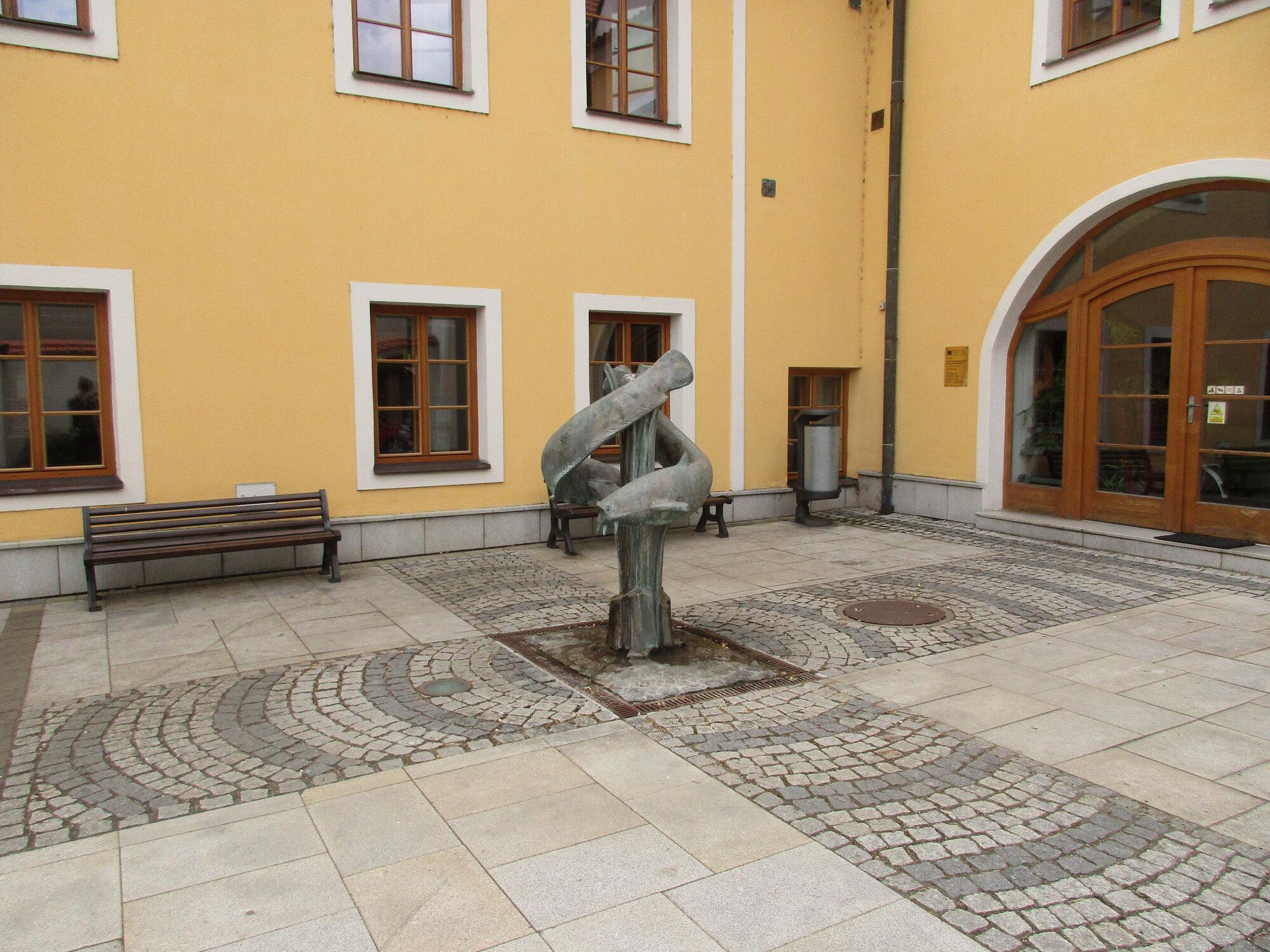 fontána před infocentrem