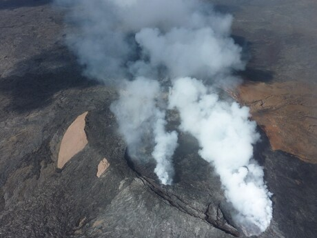 Havajské ostrovy - kráter činnej sopky Kilauea