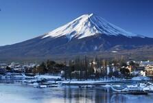 Фудзияма, самая известная гора Японии (зимой)