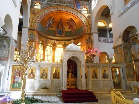 interiér pravoslavného kostola Agia Ekaterini