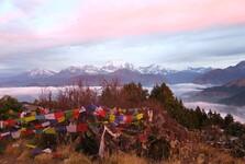 три вершины из четырнадцати самых высоких гор мира с одной смотровой площадки