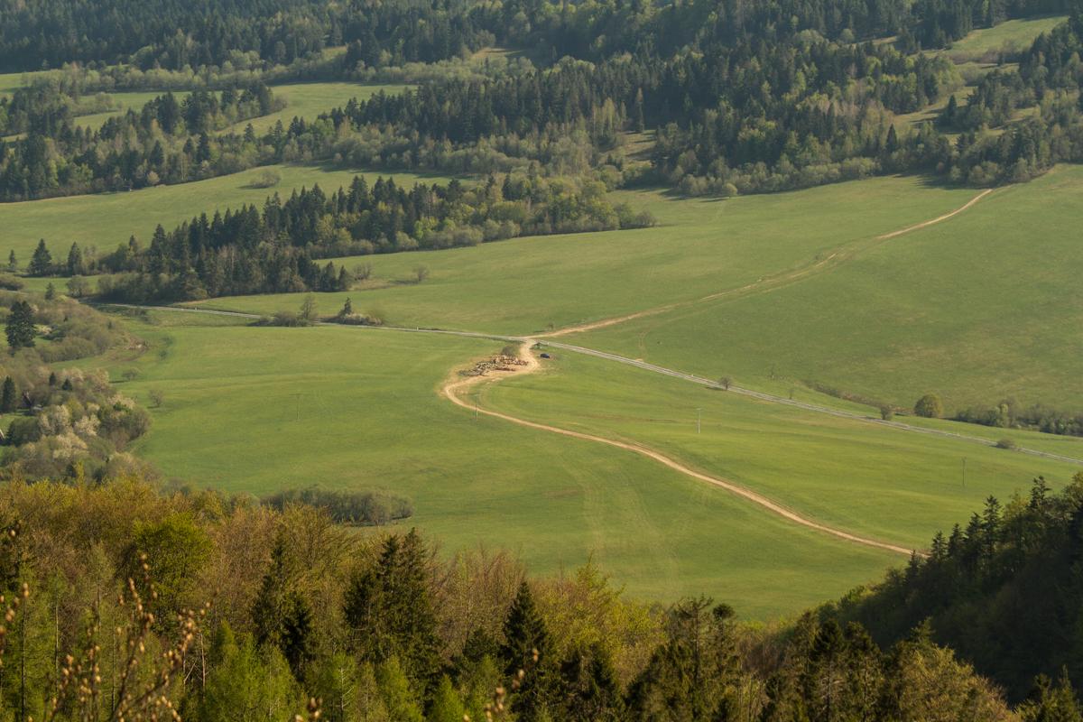 přístupový bod k zelené turistické značce