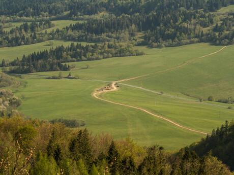 prístupový bod k zelenej turistickej značke