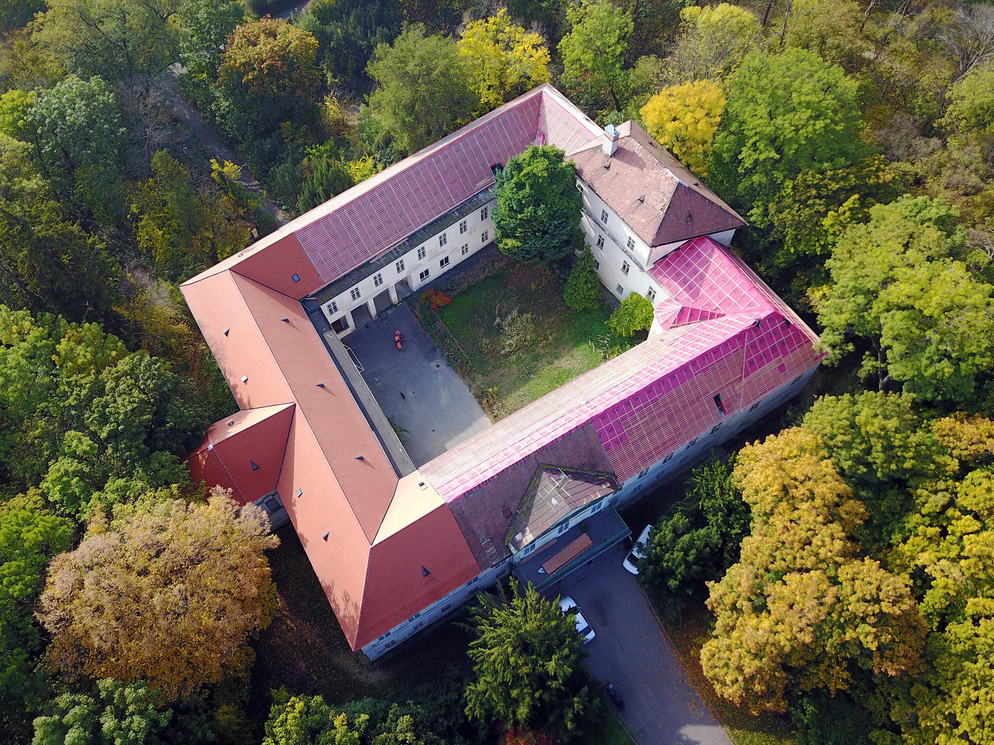 zámek Malinovo – letecký pohled