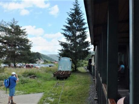 parkovisko a trať Čiernohorskej železnice, Čierny Balog
