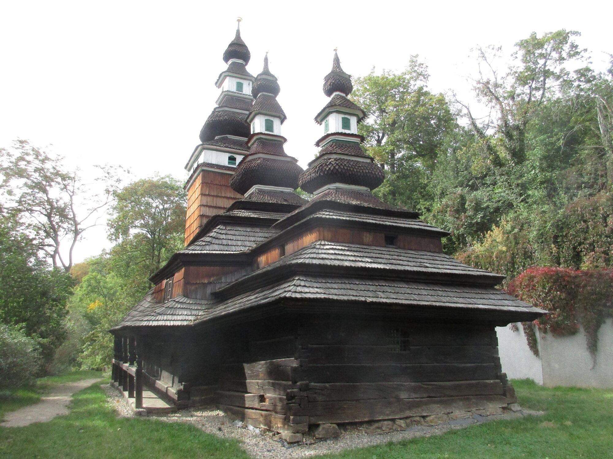 kostelík sv. Michala ještě než vyhořel