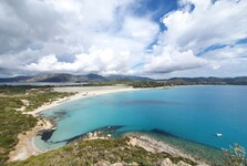 вид на пляж Porto Giunco