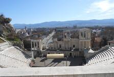 výhled část města a hory