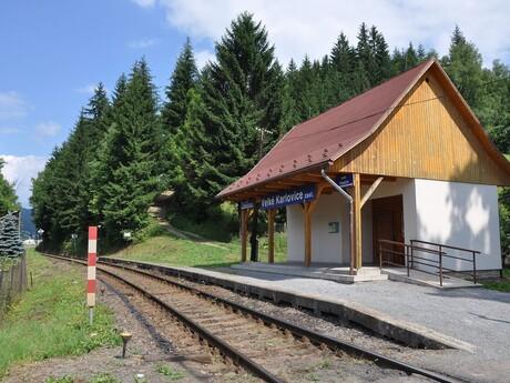 železničná stanica Velké Karlovice – zastávka, (c) wikipedia.org - Ben Skála, Benfoto
