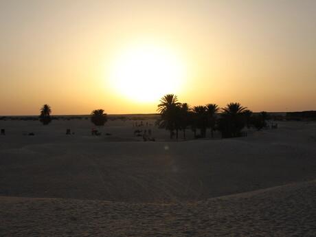západ slnka v púšti
