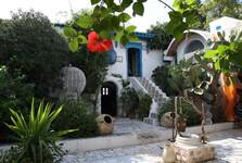 nádvoří domku v Sidi Bou Said