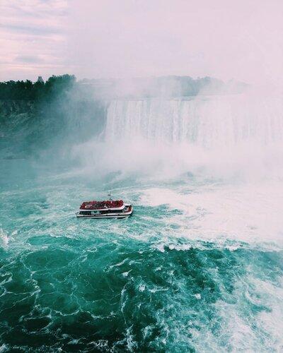 plavba lode priamo k vodopádom