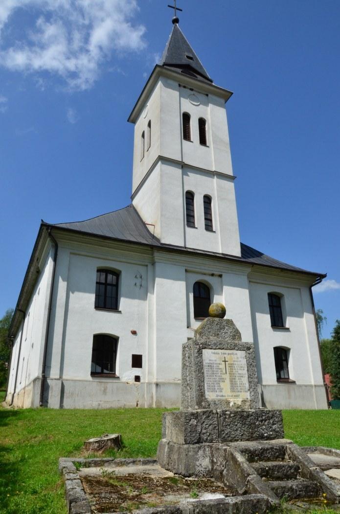 evangelický kostel, Nižná Boca