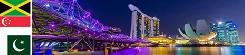 Jamajka, Singapur, Pakistan