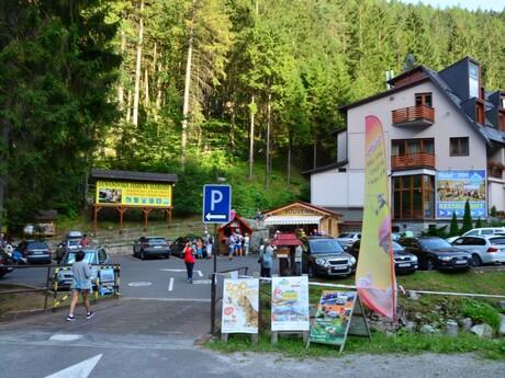 Demänovská jaskyňa slobody - prístupové parkovisko