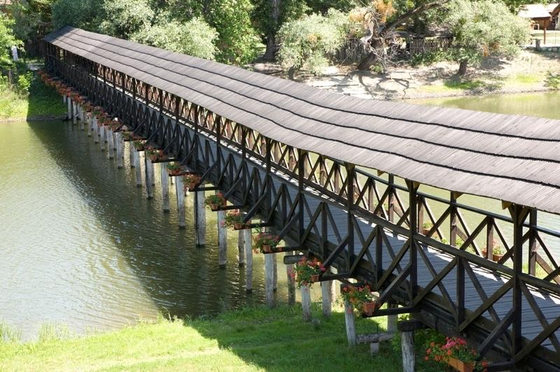 celodřevěný most v Kolárově