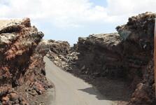 průjezd v NP Timanfaya