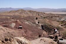 pohled na důl v Calico