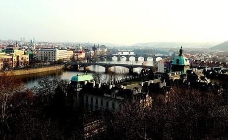 výhľad na Prahu