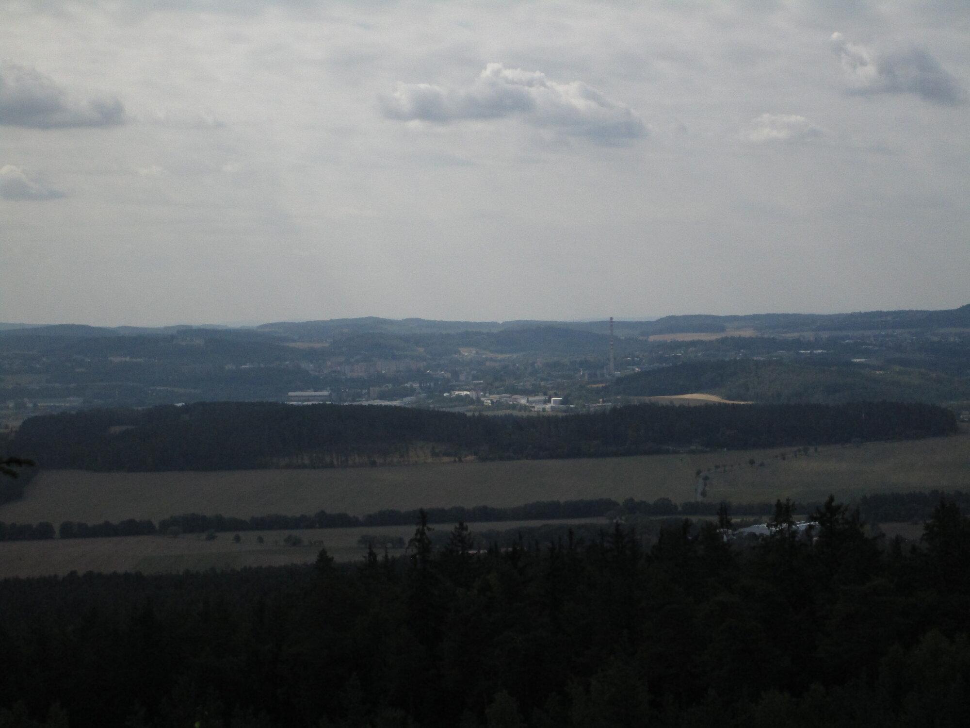 výhled z Kloučku na Příbram