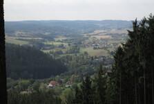 výhled na údolí Litavky