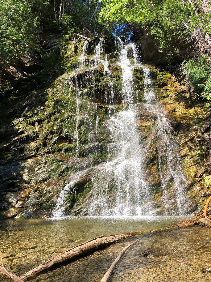 vodopády v blízkosti národního parku