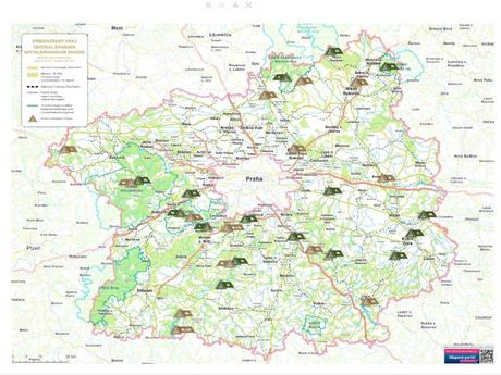 mapa kempů