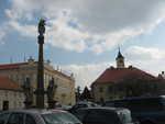 morový sloup na náměstí v Sadské