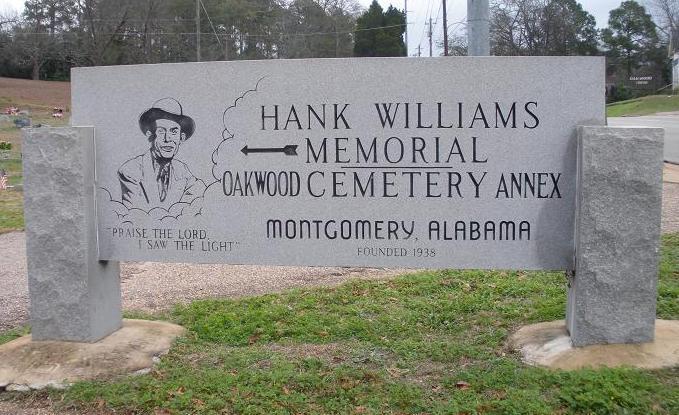 указатель к Мемориалу Хэнка Уильямса