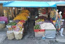 na tržnici v Berastagi