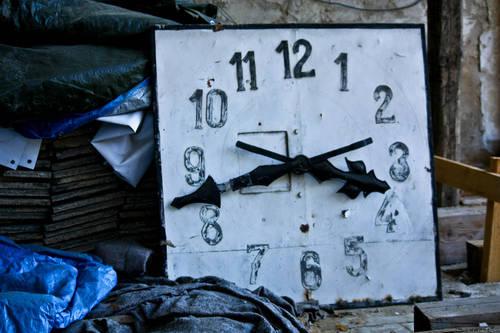 věžní hodiny - Lenešice