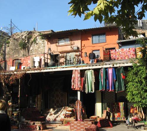 obchod na střeše - Istanbul