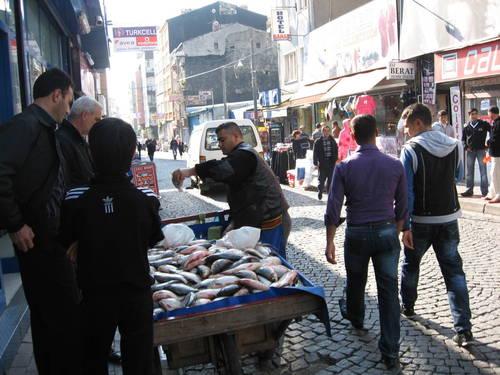 pouliční prodavači - Istanbul