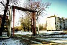 opuštěné paneláky na sídlišti v Černobylu