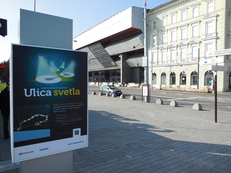 Ulica svetla v Bratislave