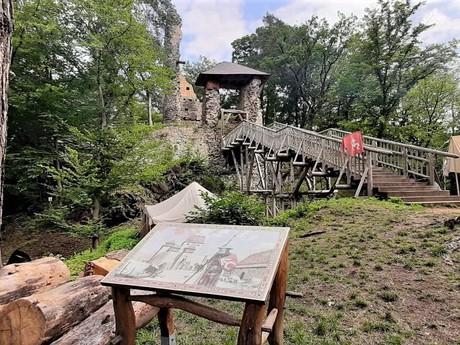 zrúcanina hradu Zlenice