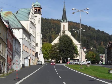 horní část města s kostelem sv. Jáchyma