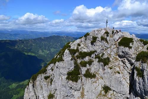 Vrchol hory Hochlantsch (1 720 m n.m.)