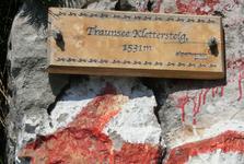 zajištěná cesta na Traunstein